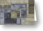 Dark Grey Greeting Cards - Scratching The Surface Greeting Card by Tim Allen