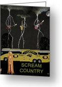 Motown Scream Tour Greeting Cards - Scream Country Greeting Card by Eric Kempson