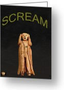 Strikes Mixed Media Greeting Cards - Scream Greeting Card by Eric Kempson