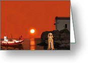 Greek Sculpture Greeting Cards - Scream Holiday Greeting Card by Eric Kempson