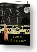 Motown Scream Tour Greeting Cards - Scream Motown Tour Greeting Card by Eric Kempson
