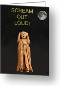 Strikes Mixed Media Greeting Cards - Scream Out Loud Greeting Card by Eric Kempson