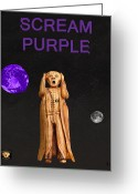 Motown Scream Tour Greeting Cards - Scream Purple Greeting Card by Eric Kempson