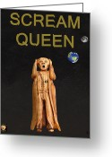 Motown Scream Tour Greeting Cards - Scream Queen Greeting Card by Eric Kempson