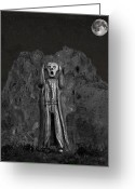 Eftalou Greeting Cards - Scream Rock Greeting Card by Eric Kempson
