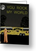 Motown Scream Tour Greeting Cards - Scream Rock On Tour You Rock My World Greeting Card by Eric Kempson
