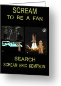 German Football Greeting Cards - Scream To Be A Fan Greeting Card by Eric Kempson