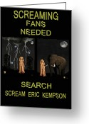 German Football Greeting Cards - Screaming Fans Needed Greeting Card by Eric Kempson