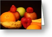 Mango Greeting Cards - Screaming Loud Fruit Dreams Greeting Card by Andrea Nicosia