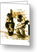 Metis Art Greeting Cards - Screaming Monkey Greeting Card by Dan Daulby