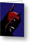 Crazy Greeting Cards - Screaming Superhero Greeting Card by Giuseppe Cristiano