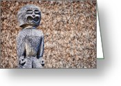 Big Island Greeting Cards - Screaming Tiki Greeting Card by Kelley King