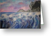 Darken Greeting Cards - Screams Of The Sea  Greeting Card by John Freiberg
