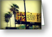 Celebrities Photo Greeting Cards - Screen Actors Guild in LA Greeting Card by Susanne Van Hulst