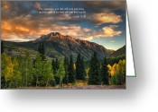 Isaiah Greeting Cards - Scripture and Picture Isaiah 55 12 Greeting Card by Ken Smith
