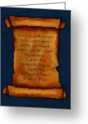 Faith Pastels Greeting Cards - Scroll With Christmas Message Greeting Card by Joyce Geleynse