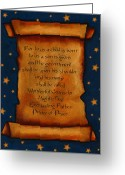 Scroll Pastels Greeting Cards - Scroll With Starry Background Greeting Card by Joyce Geleynse