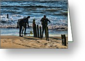 Suits Greeting Cards - Scuba Divers Greeting Card by Paul Ward