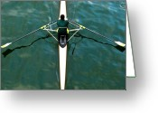 Rowing Greeting Cards - Scull Greeting Card by Gerard Hermand