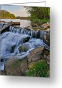 Utopia Greeting Cards - Sculpted Falls Greeting Card by Robert Harmon