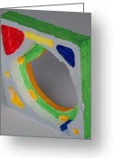 Music Sculpture Greeting Cards - Sculpture - Found and Painted Greeting Card by Jay Manne-Crusoe