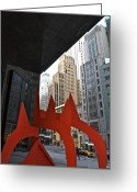 Alexander Calder Greeting Cards - Sculpture by Alexander Calder Greeting Card by Michal  Sikorski