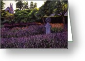 Flower Gardens Greeting Cards - Sculpture Garden Greeting Card by David Lloyd Glover
