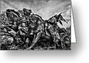 Russian Civil War Greeting Cards - Sculpture in front of Congress Building Greeting Card by Val Black Russian Tourchin