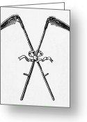 Scythe Greeting Cards - SCYTHES, 19th CENTURY Greeting Card by Granger