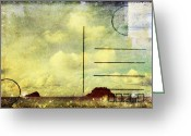 Backside Greeting Cards - Sea And Cloud Postcard Greeting Card by Setsiri Silapasuwanchai