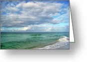 Surf Art Greeting Cards - Sea and Sky - Florida Greeting Card by Sandy Keeton