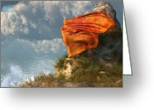Beach Towel Greeting Cards - Sea Breeze Butterfly Greeting Card by Daniel Eskridge