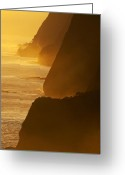 Big Island Greeting Cards - Sea Cliffs Greeting Card by Eggers   Photography