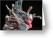 Wind Sculpture Greeting Cards - Sea Creature 1 Greeting Card by Kyle Ethan Fischer