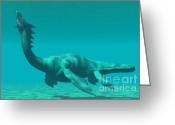 Wondrous Digital Art Greeting Cards - Sea Dragon Greeting Card by Corey Ford