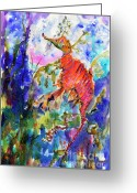 Ginette Fine Art Llc Ginette Callaway Greeting Cards - Sea Dragon Wonderland Greeting Card by Ginette Fine Art LLC Ginette Callaway