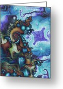 Julia Digital Art Greeting Cards - Sea Jewels Greeting Card by David April