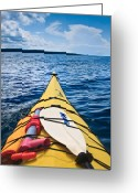 Sea Kayak Greeting Cards - Sea Kayaking Greeting Card by Steve Gadomski