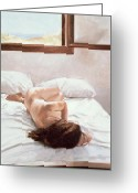 Boudoir Greeting Cards - Sea Light on Your Body Greeting Card by John Worthington