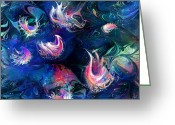 Fantasy Creatures Greeting Cards - Sea Shells Greeting Card by Rachel Christine Nowicki