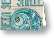 Debbie Brown Greeting Cards - Sea Snail Greeting Card by Debbie Brown
