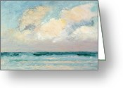 Nature Study Painting Greeting Cards - Sea Study - Morning Greeting Card by AS Stokes