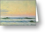 Shores Painting Greeting Cards - Sea Study Greeting Card by AS Stokes