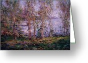 Bayview Greeting Cards - Sea through the trees Greeting Card by R W Goetting