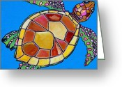 Sea Turtle Greeting Cards - Sea Turtle Greeting Card by Patti Schermerhorn