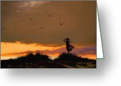 Surf Art Greeting Cards - Sea View Greeting Card by Robert Foster
