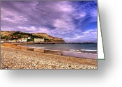 Seaview Greeting Cards - Sea View Town Greeting Card by Svetlana Sewell