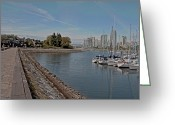 Minard Greeting Cards - Sea Wall at FC Greeting Card by Vern Minard