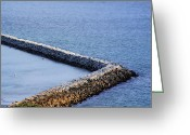 Sea Wall Greeting Cards - Sea wall Greeting Card by Viktor Savchenko