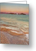 Crete Greeting Cards - Sea Waves, Sitia,greece Greeting Card by © Mitrakoulis Alexandros
